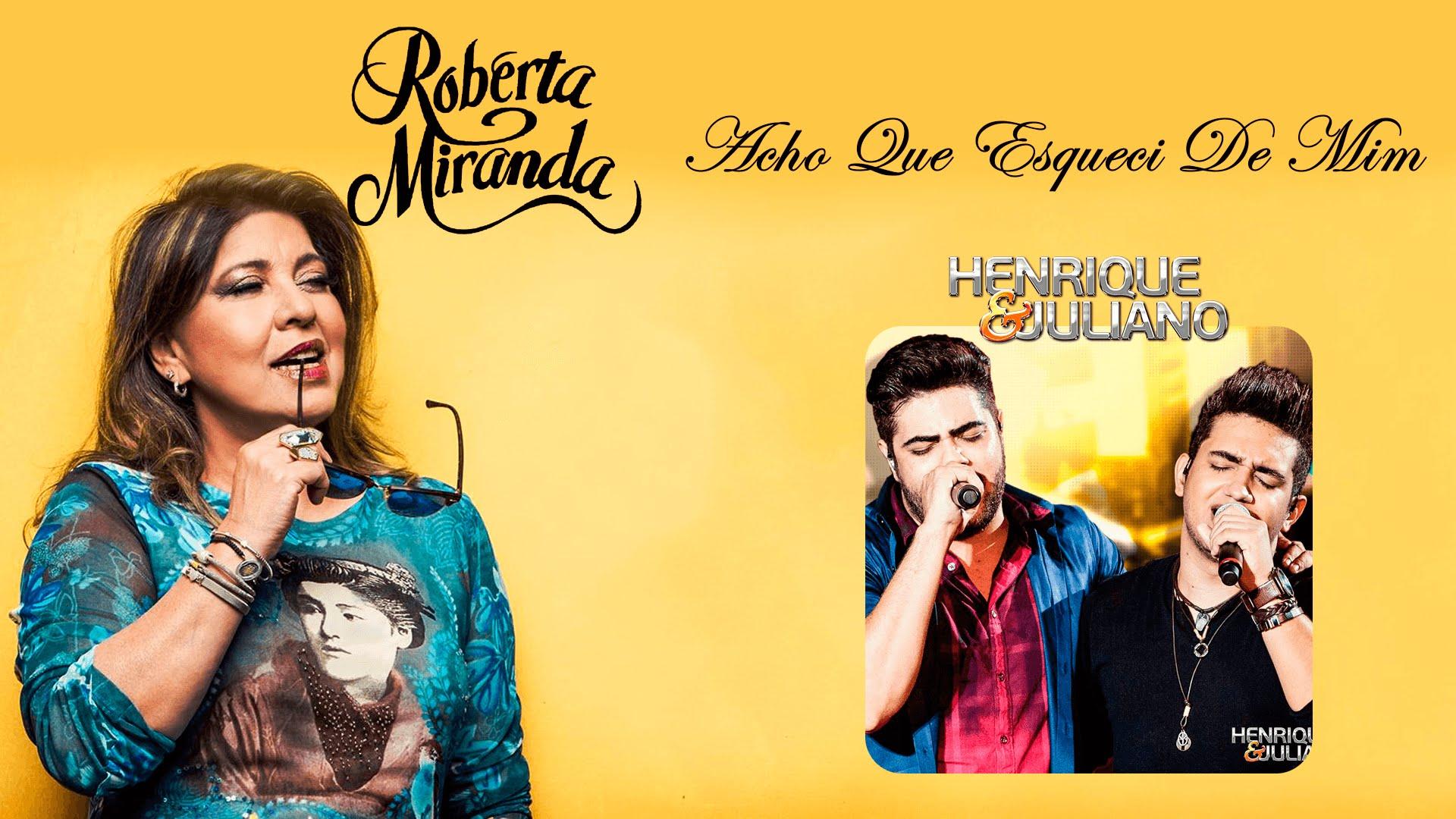 Roberta Miranda e Henrique e Juliano gravam clip
